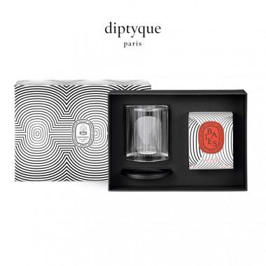 diptyque香氛蜡烛及烛罩礼盒(60周年圆舞曲限定版)-浆果香190g