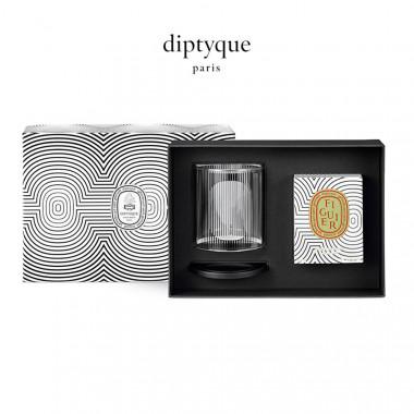 diptyque香氛蜡烛及烛罩礼盒(60周年圆舞曲限定版)-无花果190g