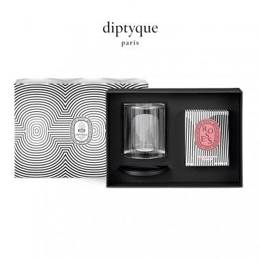 diptyque香氛蜡烛及烛罩礼盒(60周年圆舞曲限定版)-玫瑰190g