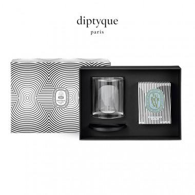diptyque香氛蜡烛及烛罩礼盒(60周年圆舞曲限定版)-晚香玉190g